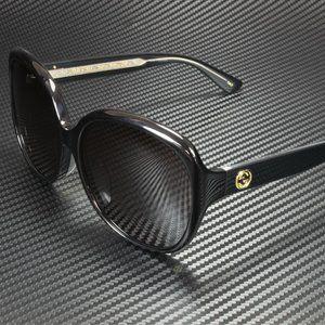 Gucci Black Grey 61mm Sunglasses